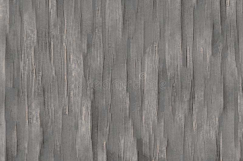 Gray wood background with timber patterns and texture stock illustration