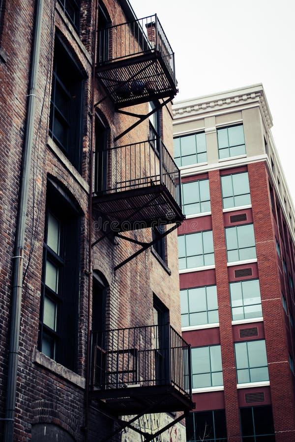 Gray Wooden Building stock photos