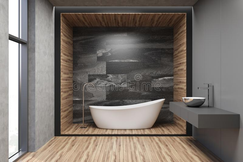 Download Gray Wooden And Marble Bathroom Stock Illustration
