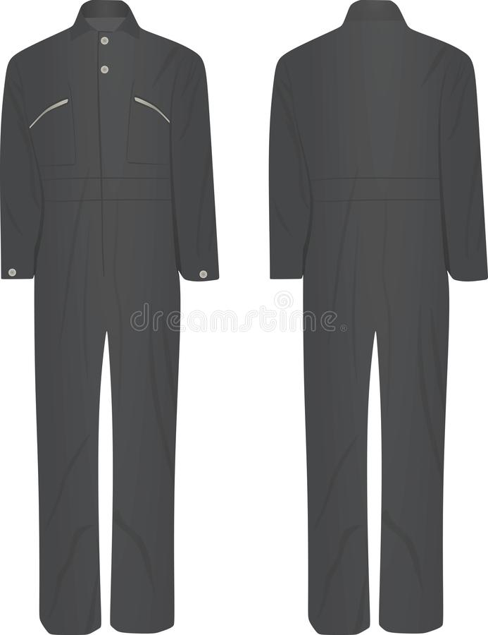 Gray working uniform vector illustration