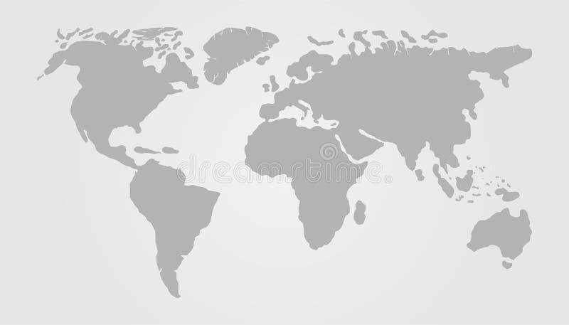 Gray World Map Vector Illustration Design. Earth Globe stock illustration