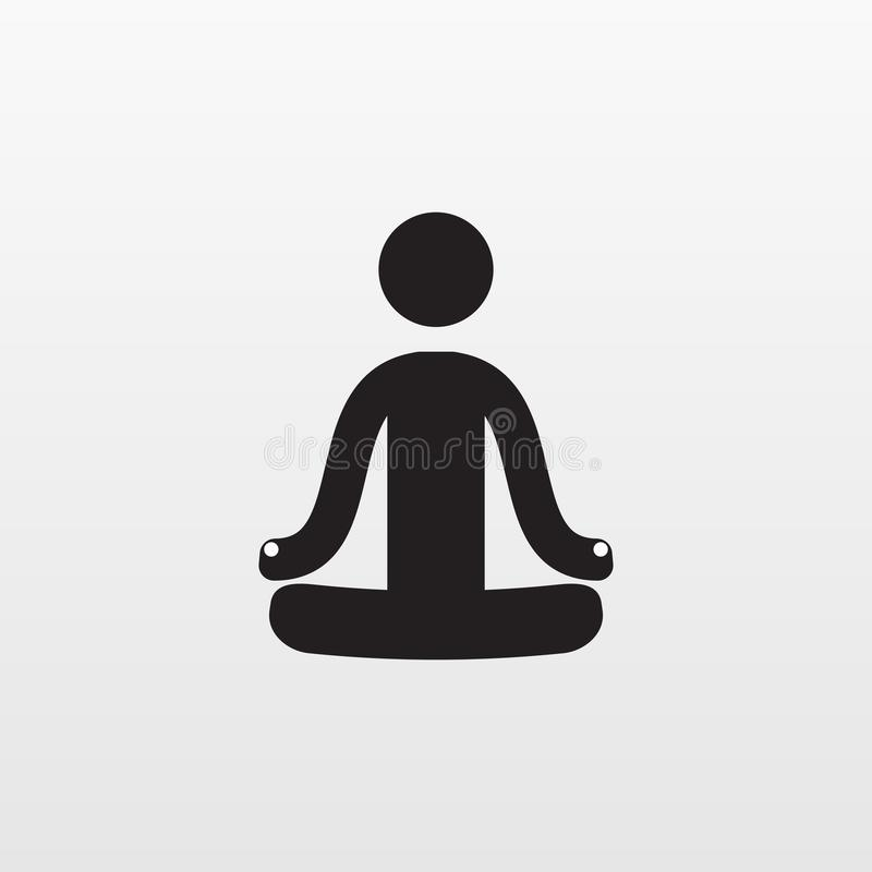 Gray Yoga Calm icon isolated on background. Modern simple flat sign. Business, internet concept. Tre royalty free illustration