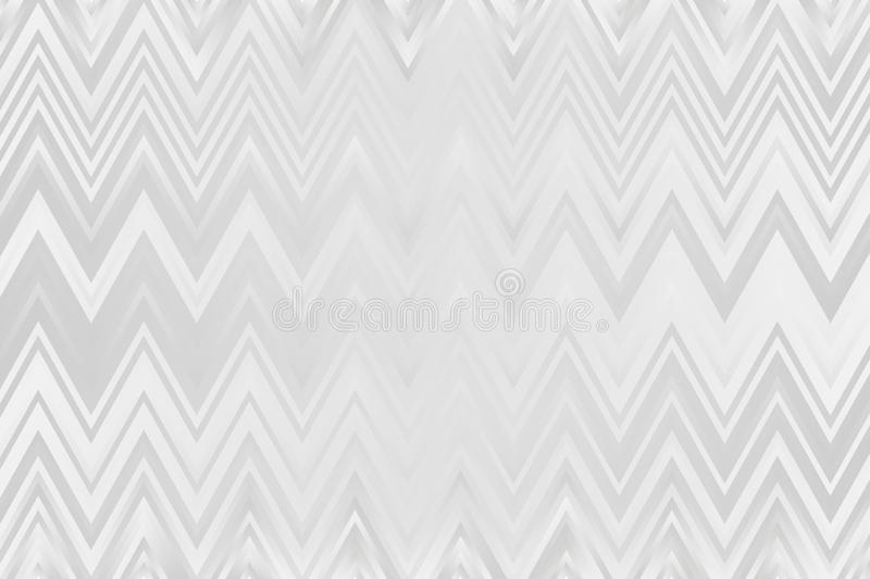 Gray zigzag pattern in watercolor style. Ethnic ornament print vector illustration