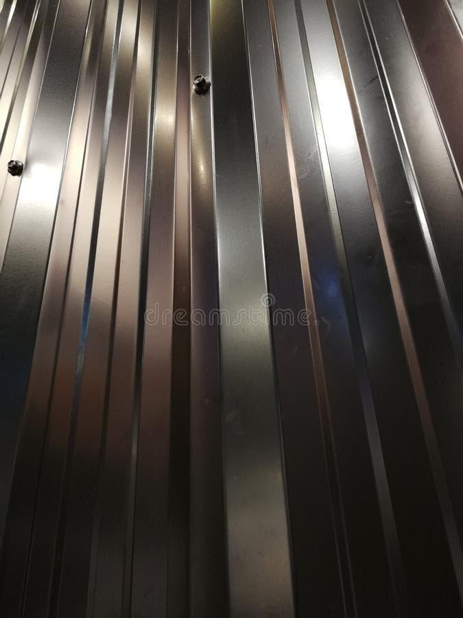 Gray zinc sheet as background stock photography