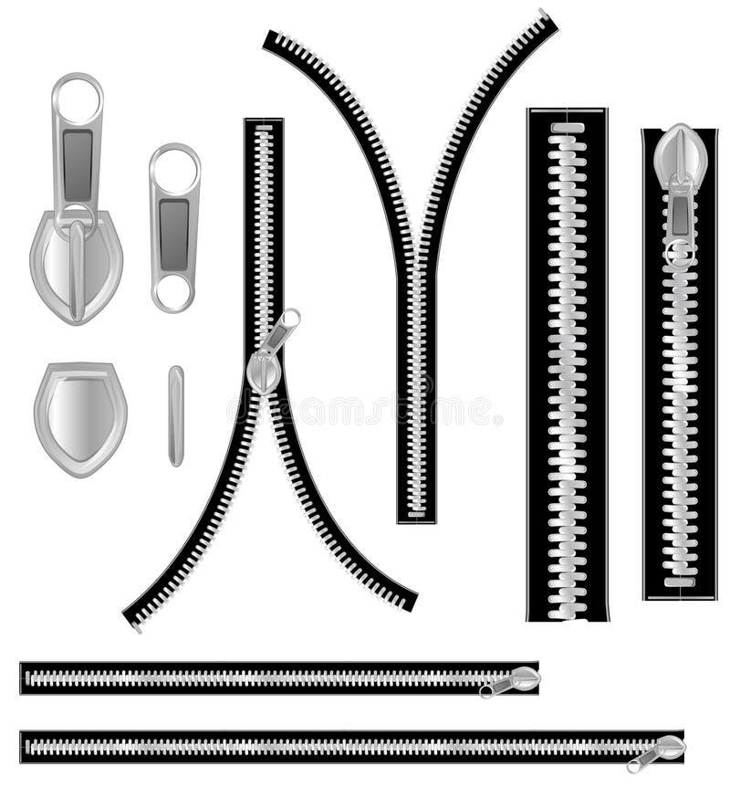 Gray zip stock illustration
