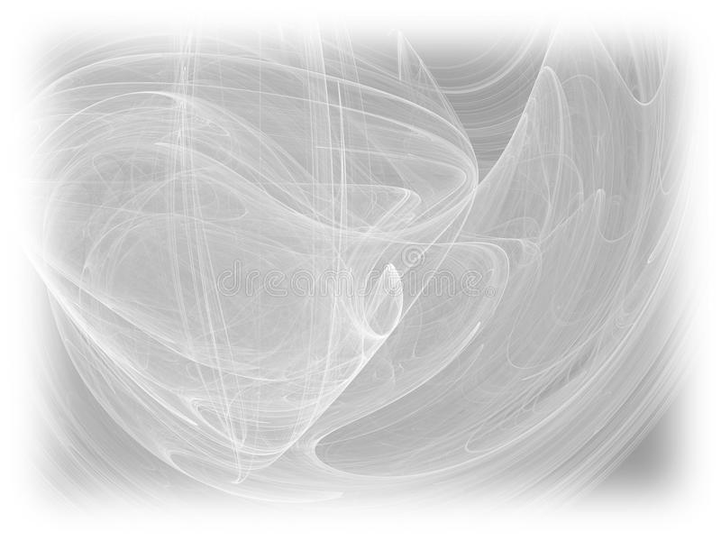 Grayscale Color Toned Monochrome Abstract Fractal Illustration