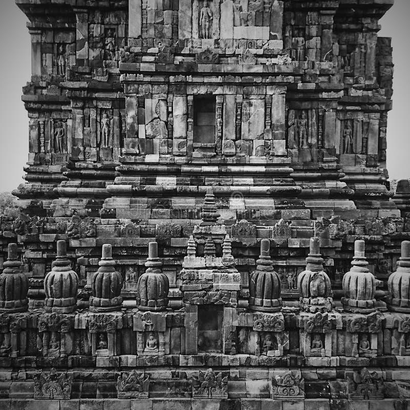 Grayscale do templo imagens de stock