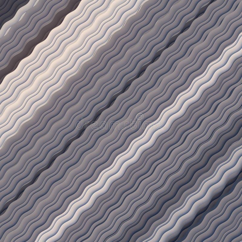 Grayscale Falisty tło Abstrakcjonistyczny dynamiczny skutek pojęcia projekta restauraci szablon Nowożytny wzór świadczenia 3 d royalty ilustracja