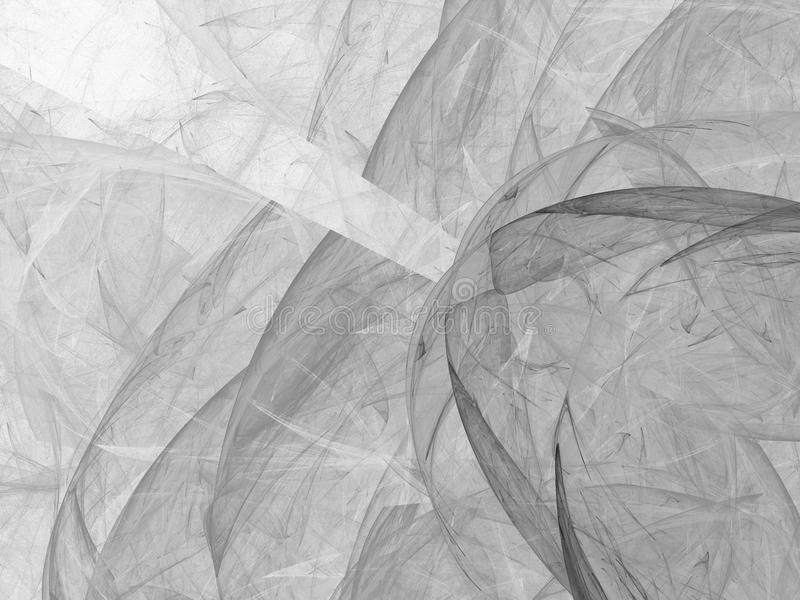 Grayscale fractal background. Digital collage. Grayscale fractal background can be used as an alpha channel for video and design projects. Digital collage royalty free illustration