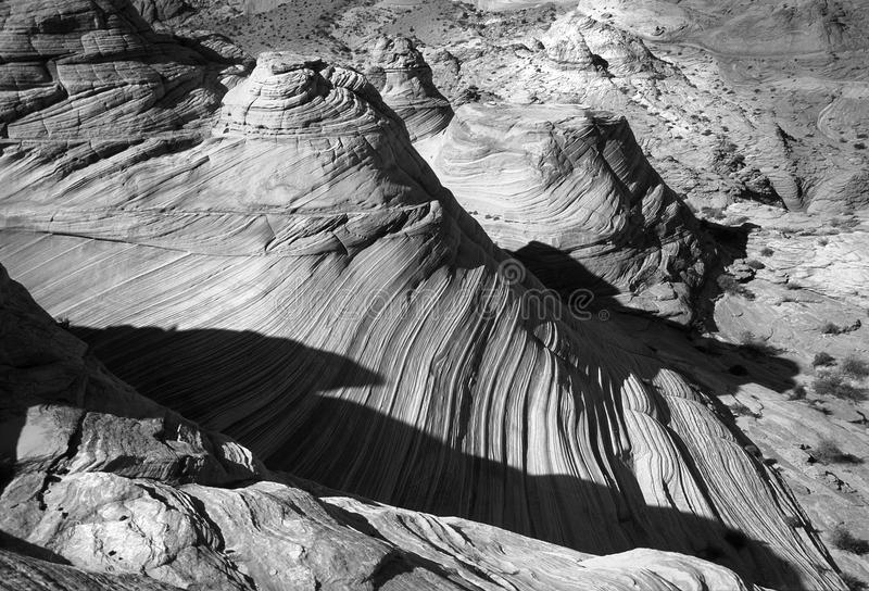 Grayscale of Grand Canyon stock photography