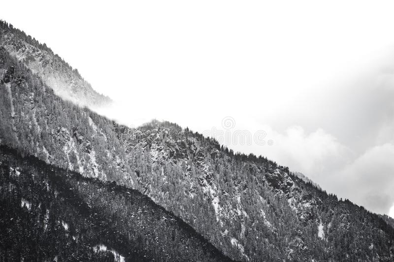 Download Grayscale High Mountain Photo Stock Image - Image of black, white: 83016265