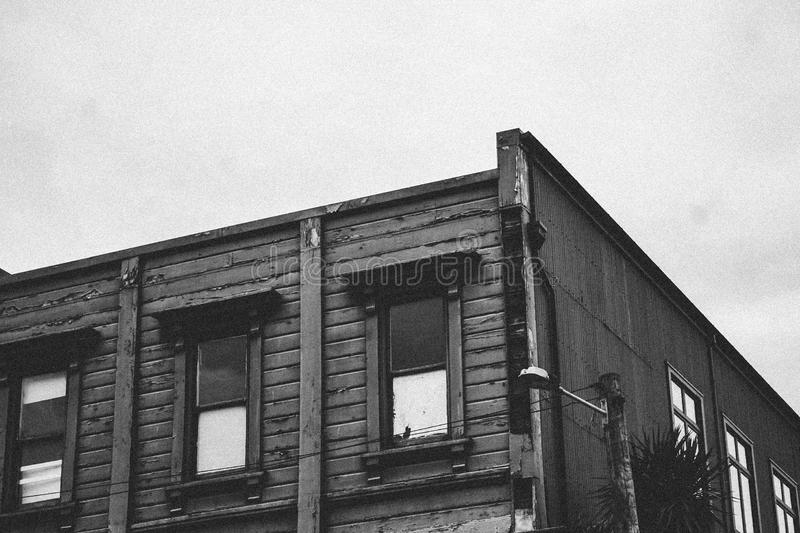 Grayscale Photo Of Building Free Public Domain Cc0 Image