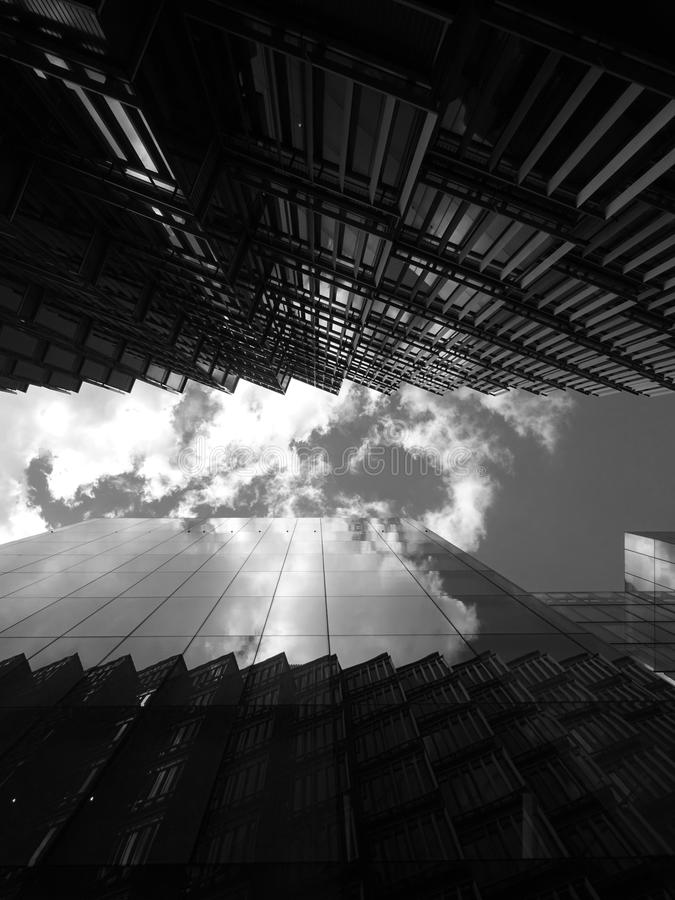 Grayscale Photo of High-rise Building royalty free stock photos