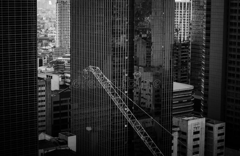 Grayscale Photo Of A High Rise Building Free Public Domain Cc0 Image