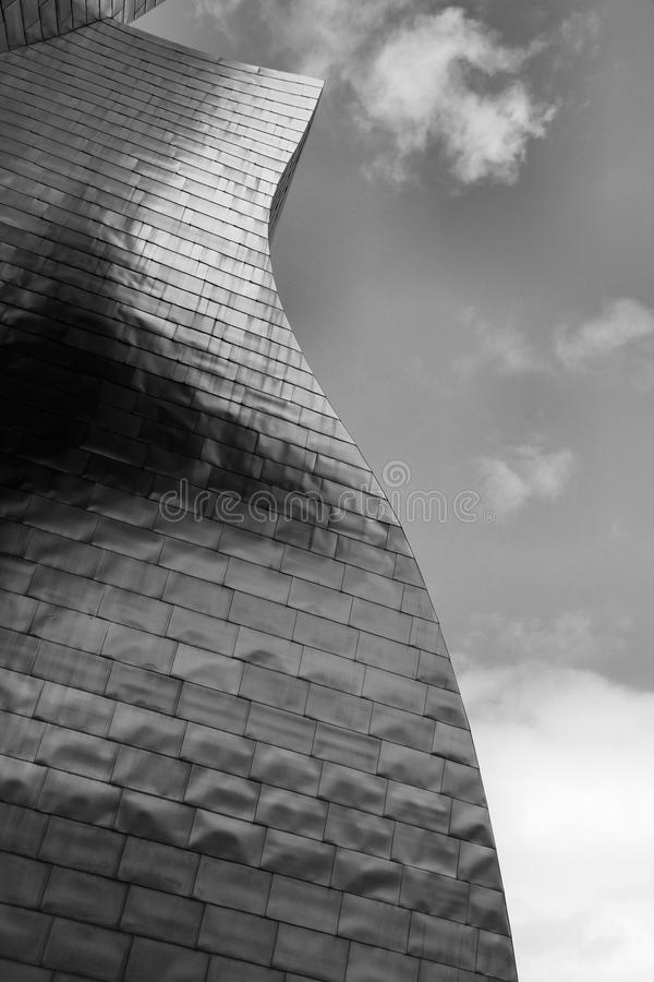 Grayscale Photo of High Rise Building stock photography