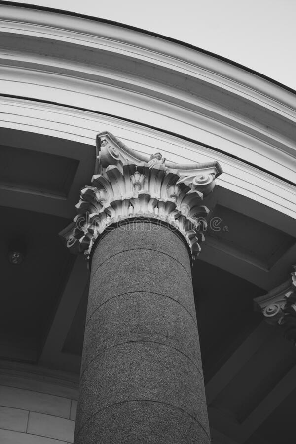 Grayscale Photo Of Pillar Free Public Domain Cc0 Image