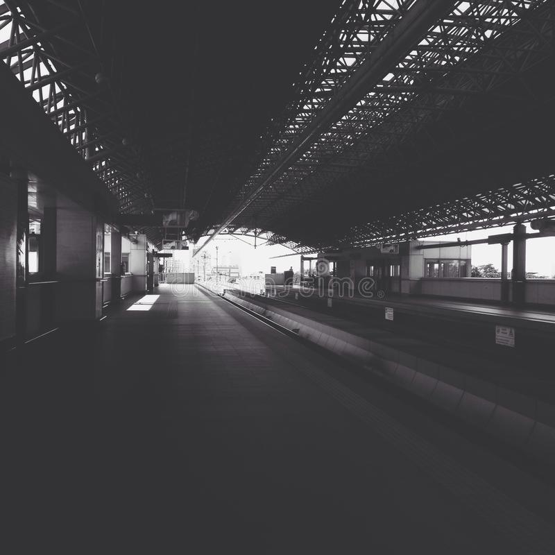 Grayscale Photo Of Train Station Free Public Domain Cc0 Image