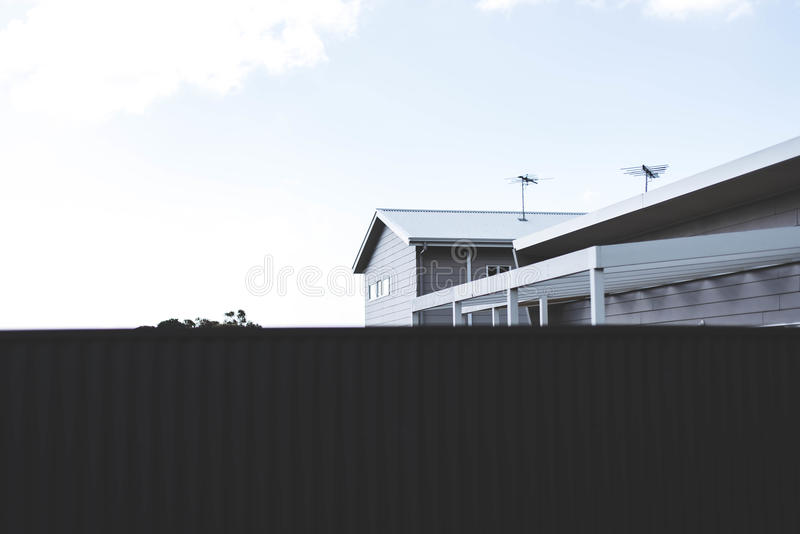 Grayscale Photography Of House With Antenna Free Public Domain Cc0 Image