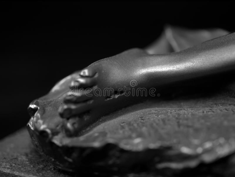 Grayscale Photography of Person's Right Foot stock images