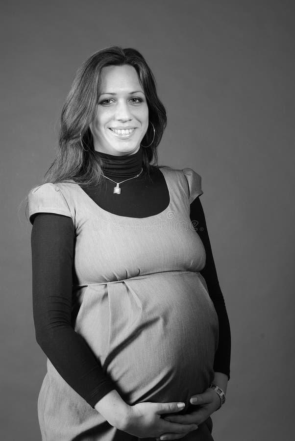 Download Grayscale Portrait Of Pregnant Stock Image - Image of caucasian, portrait: 12402713