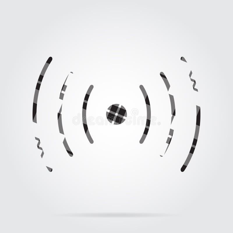Grayscale Tartan Icon - Sound Or Vibration Symbol Stock Vector ...