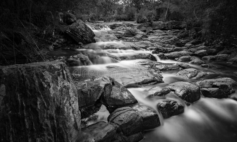 Grayscale Time Lapse Photography of River royalty free stock photography