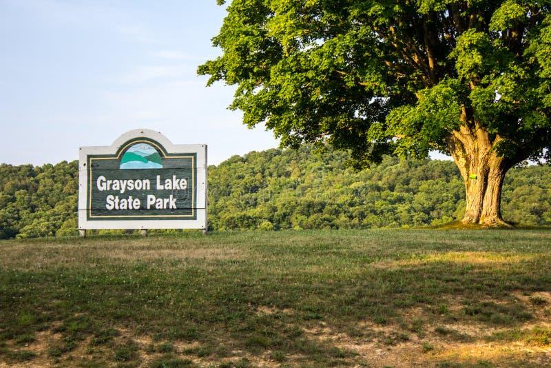 Grayson Lake State Park In Kentucky arkivfoto
