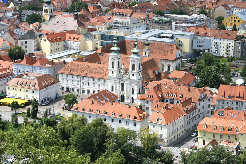 Download Graz stock image. Image of graz, church, roof, house - 14456315