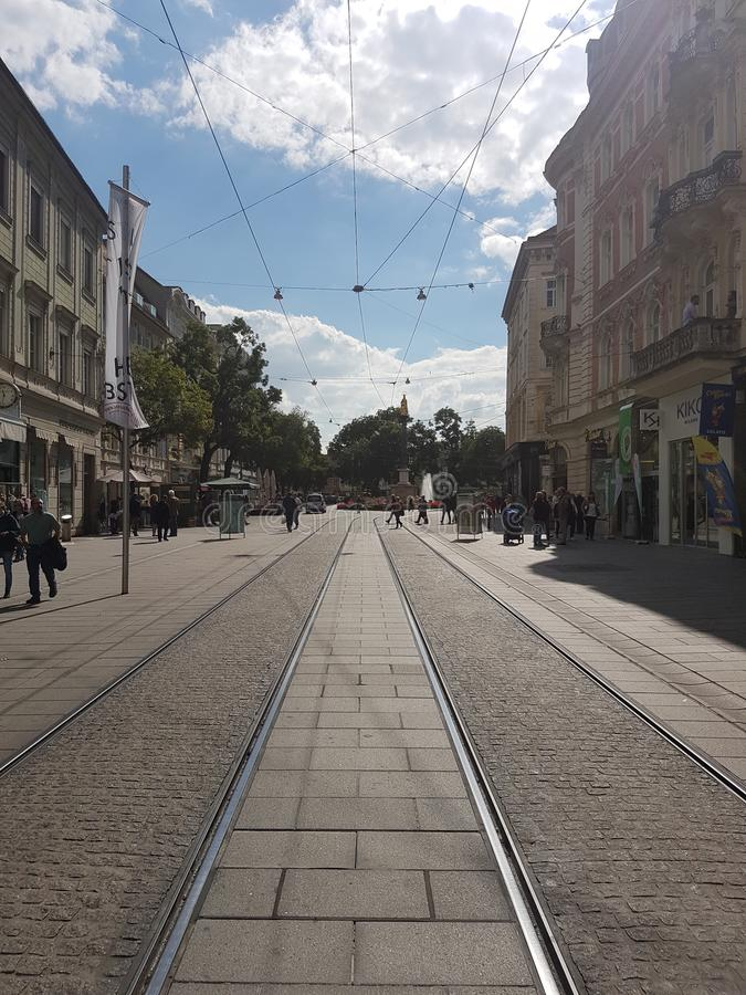 Graz Hauptplatz stockbild