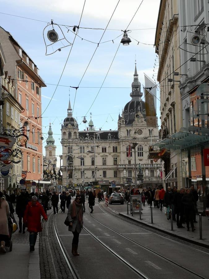 Graz im Winter stockbild