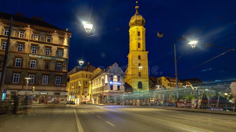 Graz la nuit photos stock