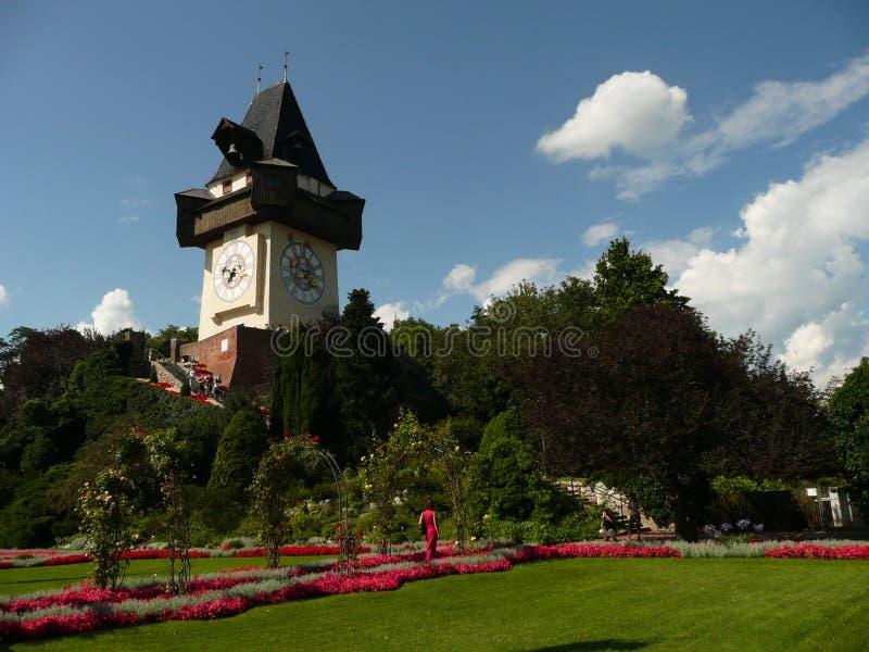 Graz - Uhrturm imagens de stock royalty free