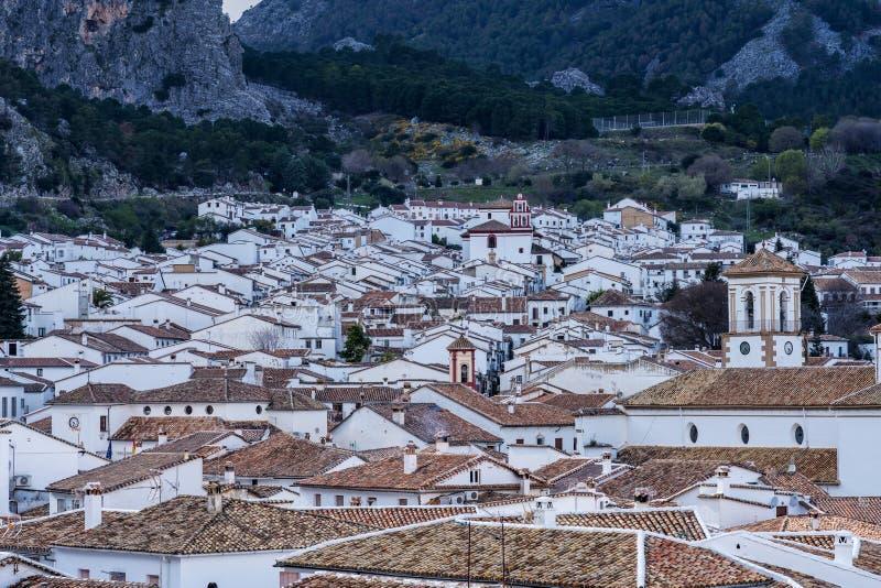 Grazalema, белая деревня в провинции Кадис, Андалусии, Испании стоковое фото