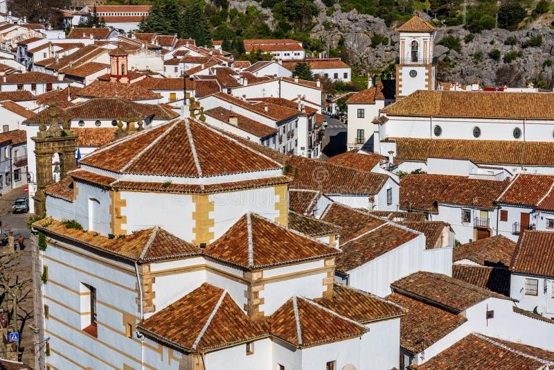 Grazalema, bia?a wioska w prowincji Cadiz, Andalusia, Hiszpania obrazy royalty free