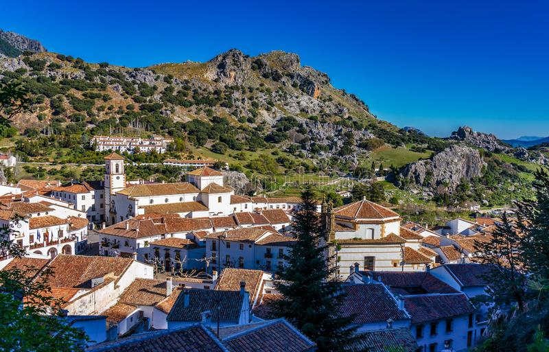 Grazalema, bia?a wioska w prowincji Cadiz, Andalusia, Hiszpania zdjęcie royalty free