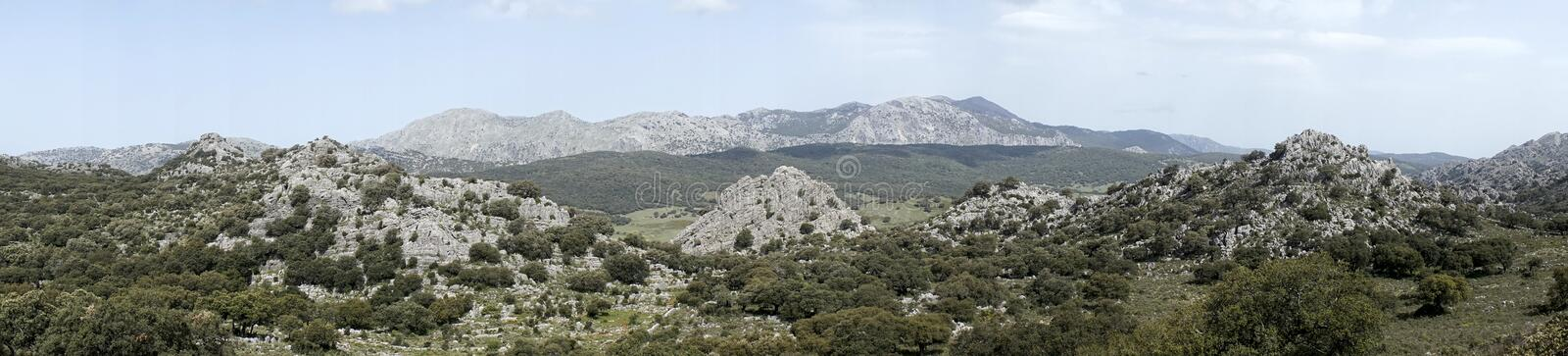 Grazalema natural park in the province of Cadiz, Andalusia, Spain royalty free stock image