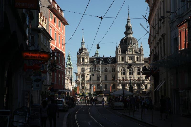 Grazer Rathaus ou câmara municipal de Graz em Graz, Áustria fotos de stock