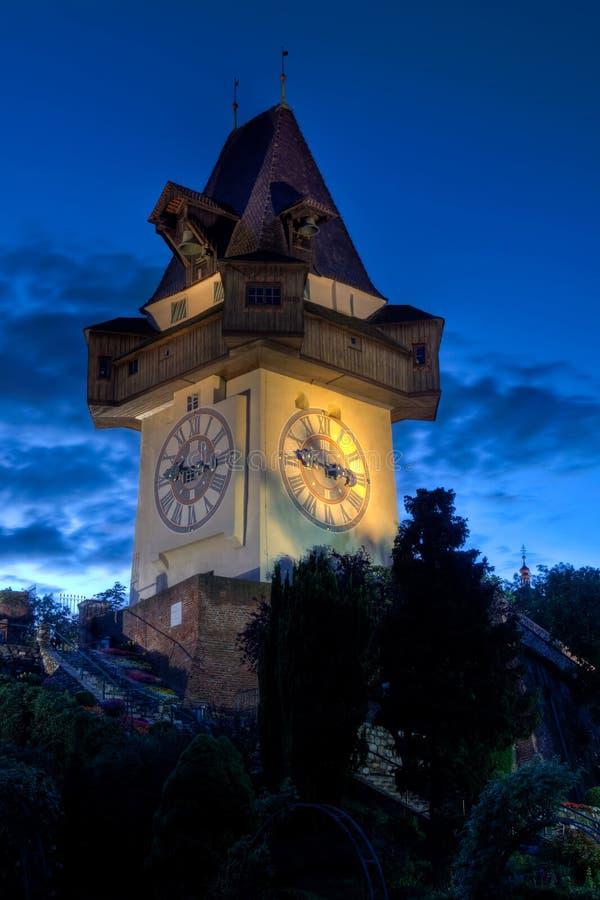 Grazer Uhrturm στοκ εικόνες με δικαίωμα ελεύθερης χρήσης