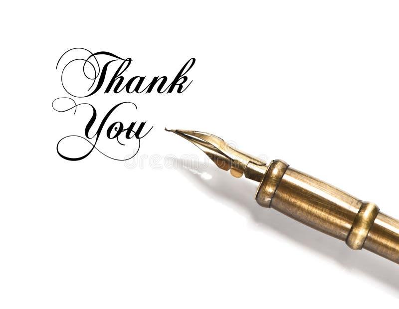 Grazie. penna dell'inchiostro dell'annata fotografia stock libera da diritti
