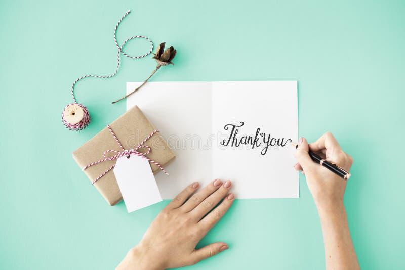 Grazie ringraziamento Marci Gracias Danke Concept fotografia stock libera da diritti