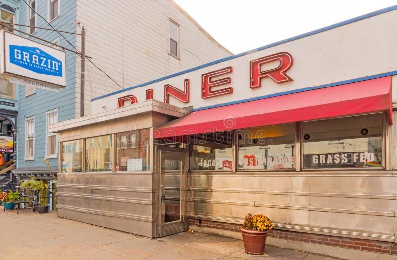 Grazin Diner, restauracja od gospodarstwa do stołu zdjęcie stock