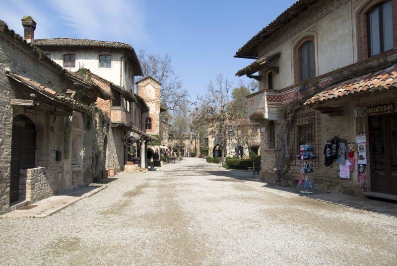 Grazzano Visconti - średniowieczna wioska w prowinci Piacenza, Włochy zdjęcia royalty free