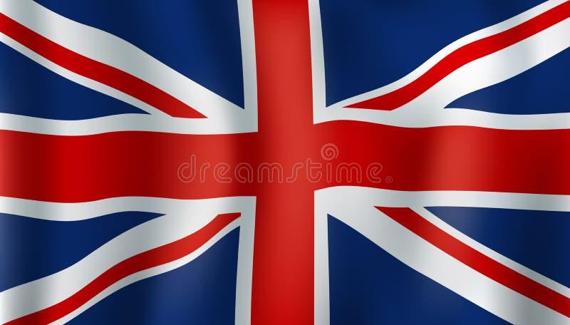 Grean Britannien eller Union Jack 3d flagga vektor illustrationer