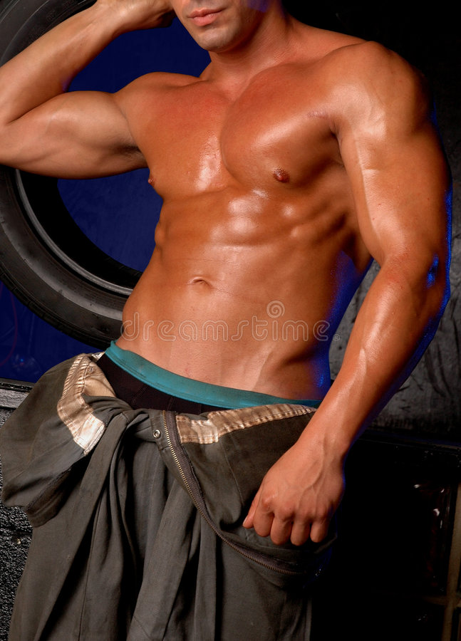Download Grease monkey 2 stock image. Image of active, chest, strip - 979235