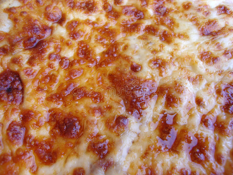 Greasy Pizza Cheese. Close up of Greasy plain cheese pizza hot and fresh out the oven royalty free stock image