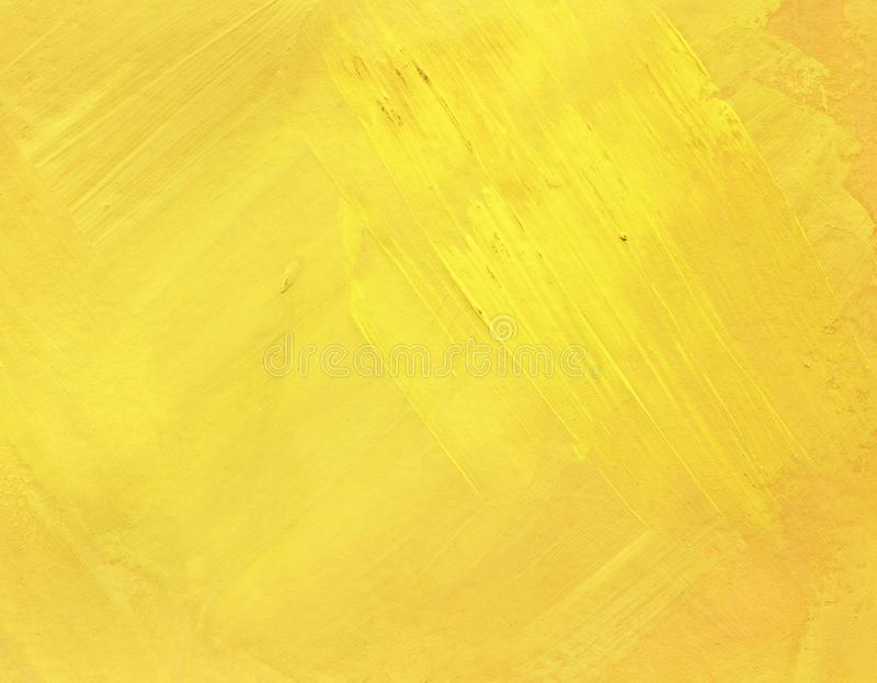 Greasy smears of oil on the surface. Spring, summer sunny. Yellow hand painted abstract background. Greasy smears of oil on the surface. Spring, summer sunny royalty free stock photography