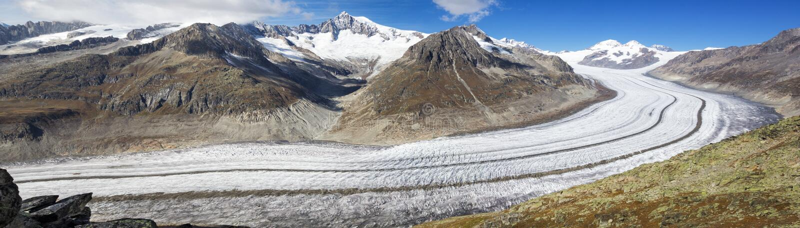 Great Aletsch Glacier, Switzerland stock photography