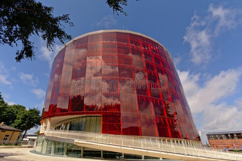 Great amber concert building in Liepaja stock photos