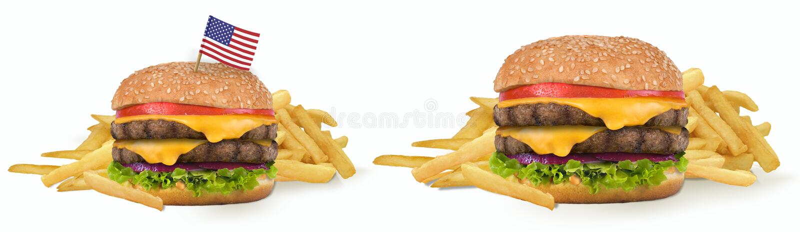 Great American Cheeseburger royalty free stock photo