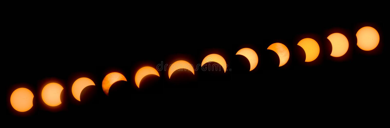 Great American Eclipse 2017 stock image